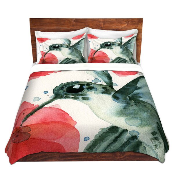 Tropical Hummingbird Duvet Cover Set
