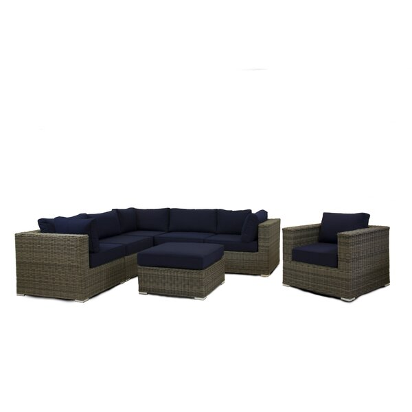 Pettry 7 Piece Sectional Set with Cushions by Breakwater Bay