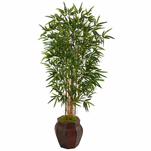 Artificial Floor Bamboo Tree in Planter by Bloomsbury Market