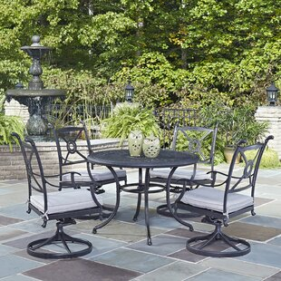 Lansdale 5 Piece Dining Set with Cushions ByDarby Home Co