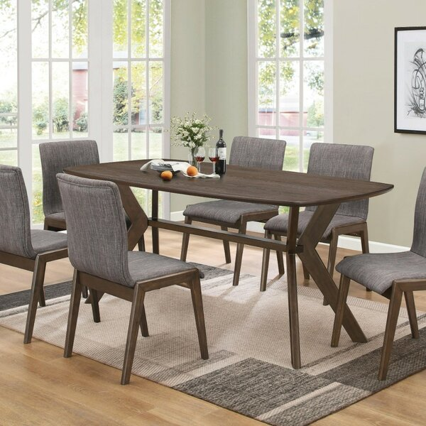 Shorewood Mid-Century Solid Wood Dining Table by Wrought Studio