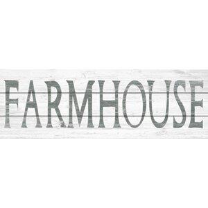'Vintage Farmhouse' Textual Art on Wood by Laurel Foundry Modern Farmhouse