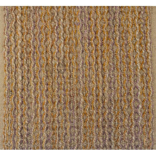 Horsham Jute Hand-Woven Beige/Mustard Area Rug by Gracie Oaks
