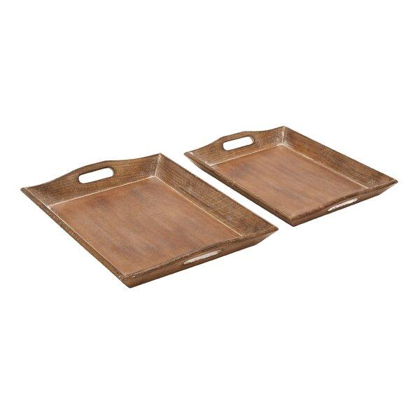 Abrams Wood Platter (Set of 2) by Birch Lane™