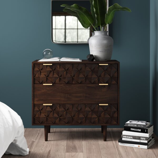 Banach 3 Drawer Dresser by Mercury Row