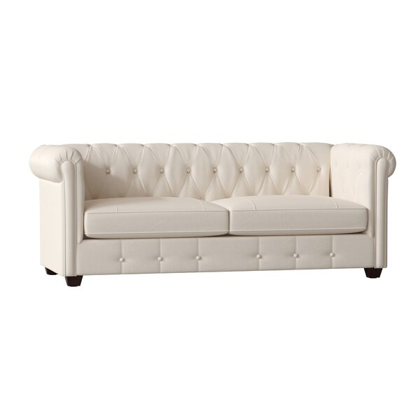Hawthorn Leather Chesterfield Sofa by Birch Lane™ Heritage