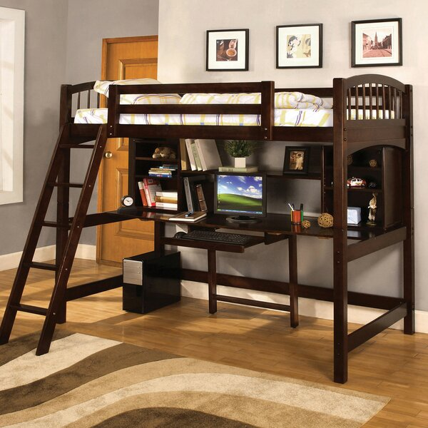 Cranston Twin Loft Bed with Bookcase by Harriet Bee