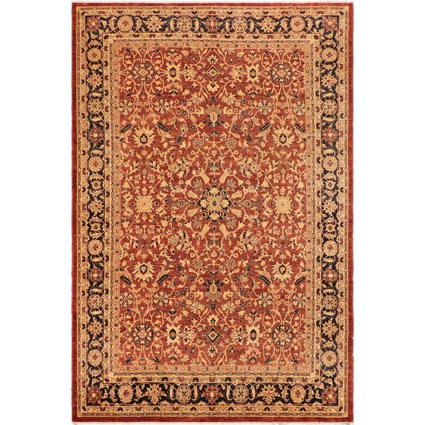 Annalee Hand-Knotted Wool Brown/Navy Area Rug