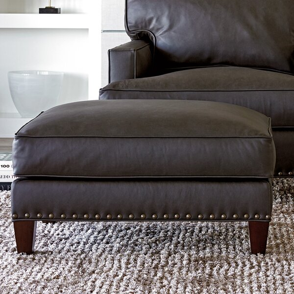 Check Price Zavala Leather Ottoman