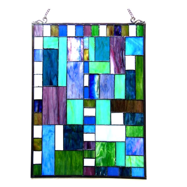 Picasso Glass Rectangle Window Panel by Red Barrel Studio