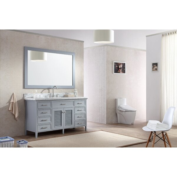 Hamil 61 Single Bathroom Vanity Set with Mirror by Highland Dunes