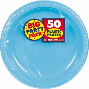 big party pack round plastic dinner plate set of 100