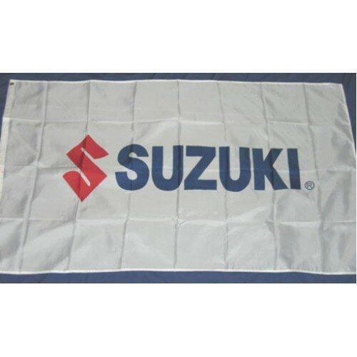 Suzuki Motors Logo Traditional Flag by NeoPlex