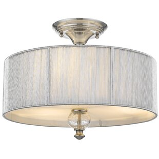 Best Deals French 2-Light Semi Flush Mount By House of Hampton