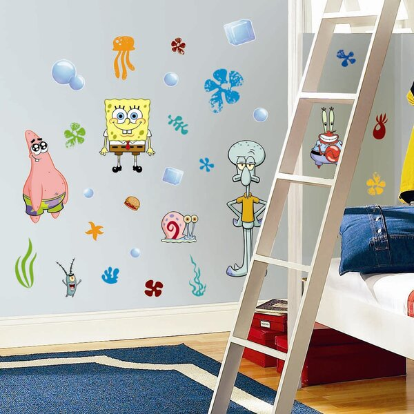 Favorite Characters 30 Piece Nickelodeon Sponge Bob Square Pants Wall Decal by Room Mates