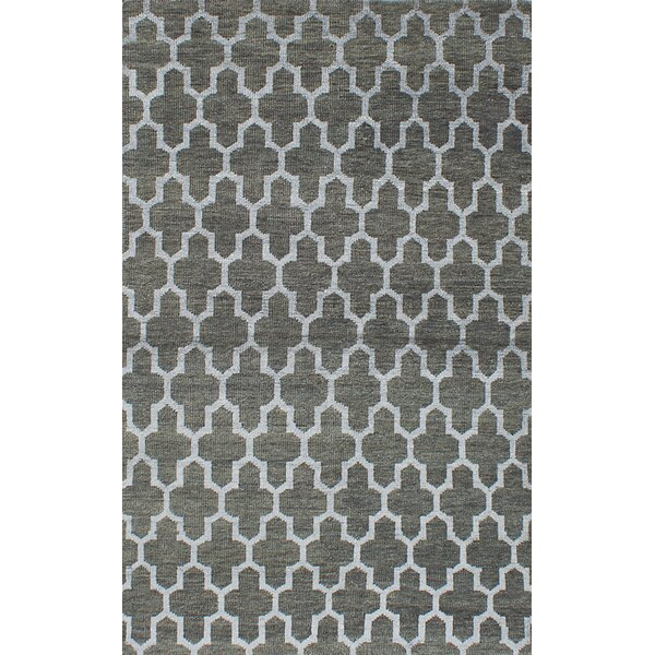 Dearth Hand-Knotted Green Area Rug by Brayden Studio