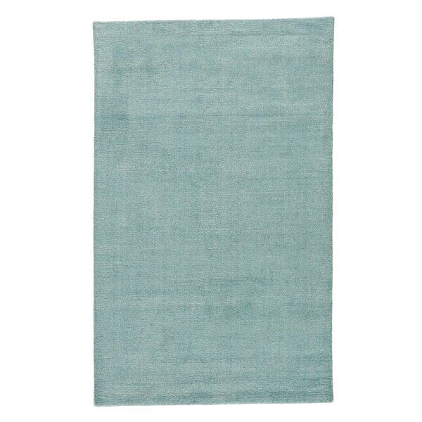Windridge Hand Woven Aruba Blue/Silver Area Rug by Alcott Hill