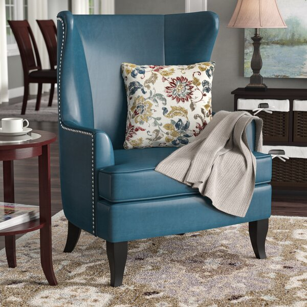 Roundtree High Wingback Chair by Alcott Hill