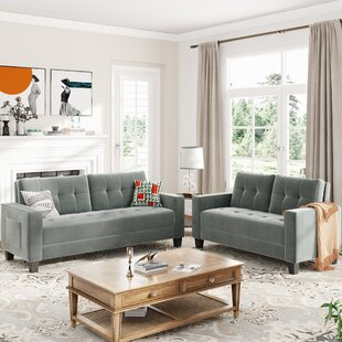 Modern Style Upholstered Sofa Seat For Home And Office, 2+3 Seat by Latitude Run®