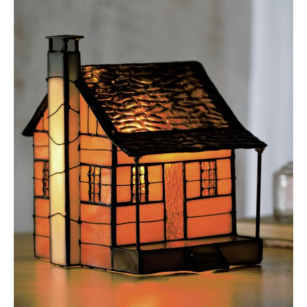 Tiffany-Style Cabin 7.25 Table Lamp by Plow & Hearth