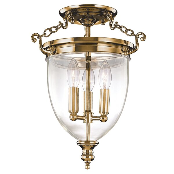 Philipston 11 3-Light Semi Flush Mount by Astoria Grand