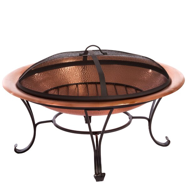Shayne Copper Wood Burning Fire Pit by Home Loft Concepts