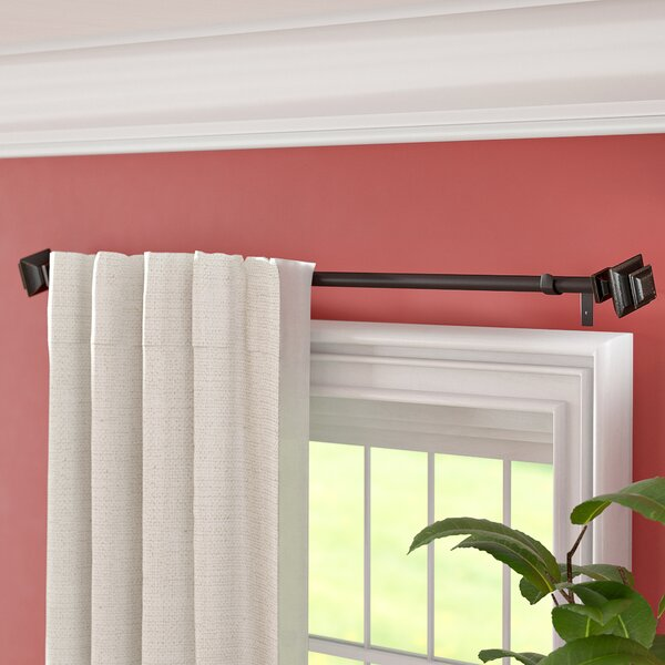 Atlanta Core Square Telescoping Drapery Rod Set by Three Posts