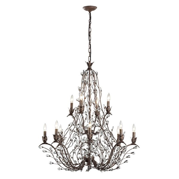 Creed 12 - Light Candle Style Tiered Chandelier By House Of Hampton