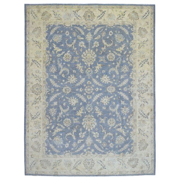 One-of-a-Kind Ardith Hand Woven Wool Blue/Beige Area Rug by Isabelline
