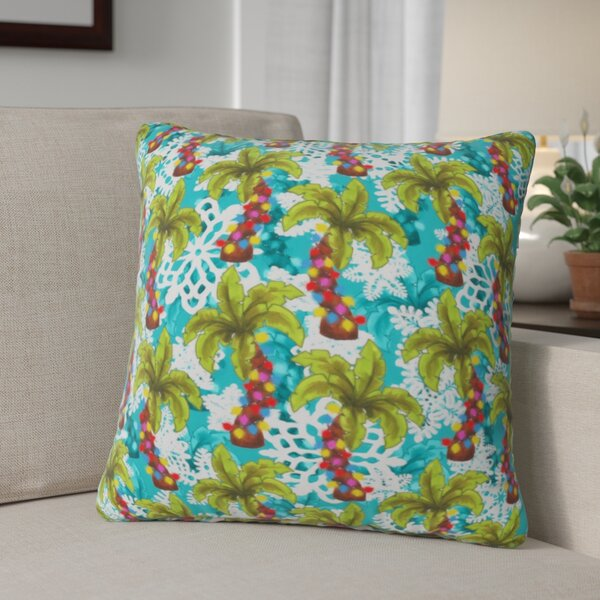 Jade Tropical Christmas Throw Pillow by The Holiday Aisle