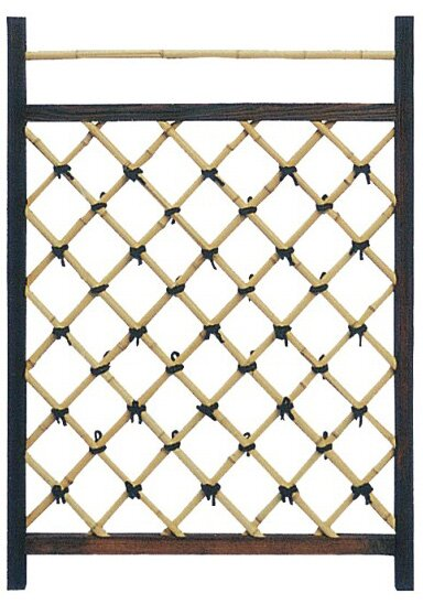 Japanese Wood Lattice Panel Trellis by Oriental Furniture