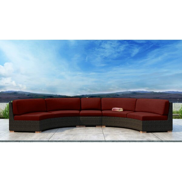 Glen Ellyn 3 Piece Teak Sectional Seating Group with Sunbrella Cushions by Everly Quinn