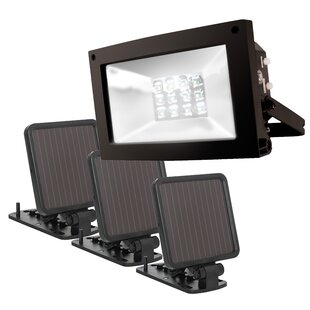 Best Reviews Super Bright Solar 12 Light LED Flood Spot Light By Maxsa Innovations