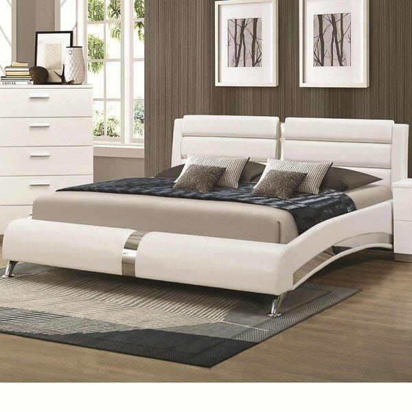 Dandir Leatherette Upholstered Platform Bed by Orren Ellis