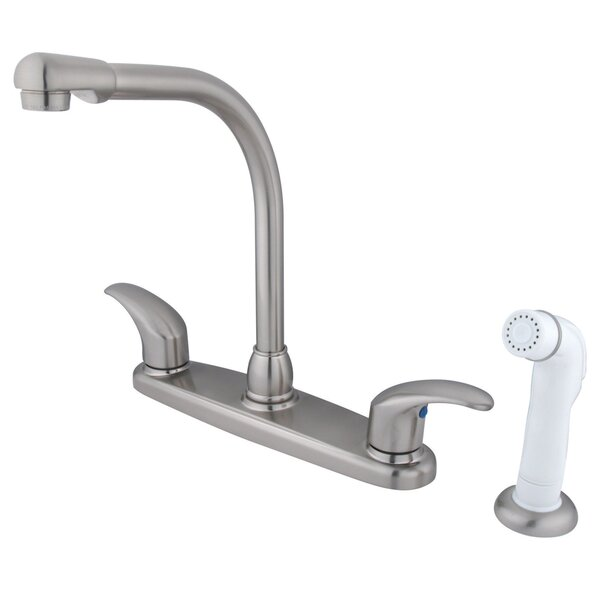 Legacy Double Handle Kitchen Faucet with Side Spray by Kingston Brass