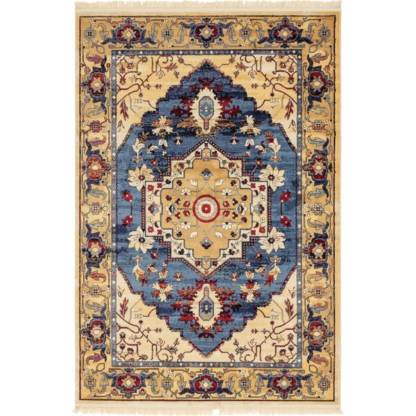 Rumsey Blue Area Rug by World Menagerie