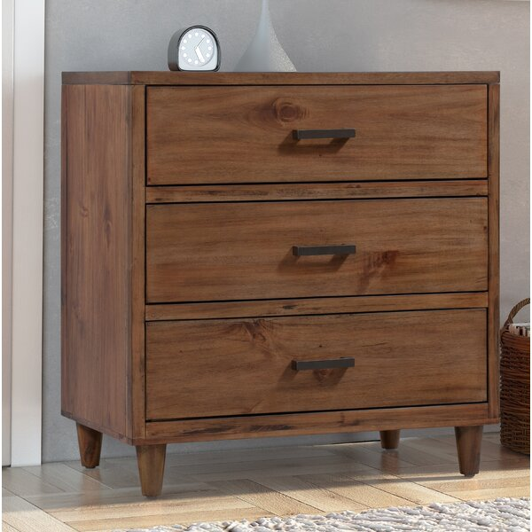 Ballentine 3 Drawer Bachelors Chest by Foundry Select
