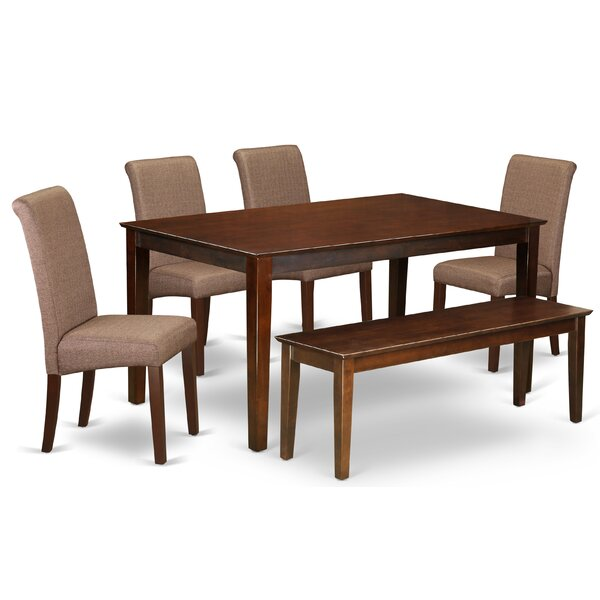 Kaila Kitchen Table 6 Piece Solid Wood Dining Set by Winston Porter