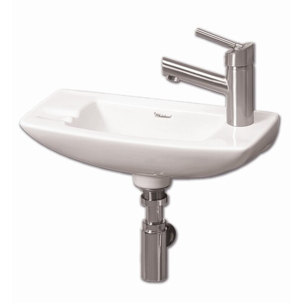 Isabella Ceramic 18 Wall Mount Bathroom Sink by Whitehaus Collection