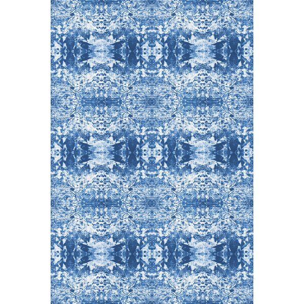 Cannonball Power Loom Blue/White Rug