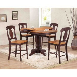 Napoleon Counter Height 5 Piece Pub Table Set by Iconic Furniture