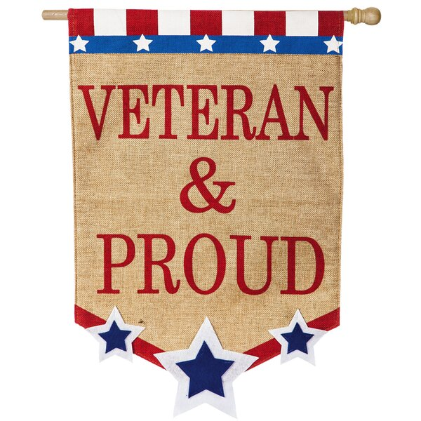 Veteran and Proud Vertical Flag by Evergreen Enterprises, Inc