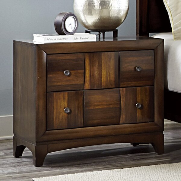 Ainslie Brook 4 Drawer Nightstand by World Menagerie World Menagerie