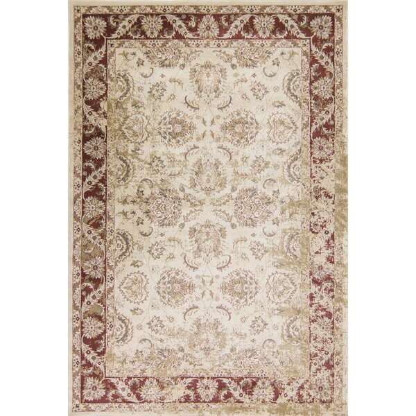 Bailor Ivory/Red Area Rug by Astoria Grand