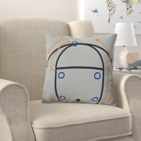 Bauer Motion! Outdoor Throw Pillow by Zoomie Kids