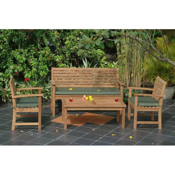 Bourque 4 Piece Teak Sofa Seating Group by Freeport Park