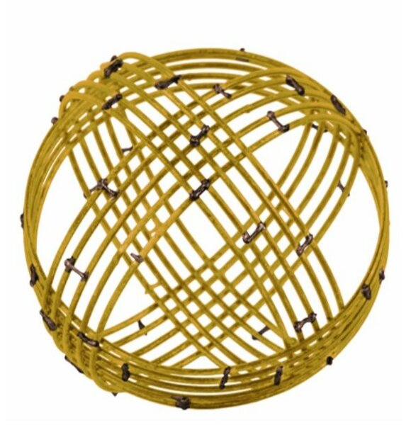 Duarte Metal Spherical Orb Decor with 10 Circles by Williston Forge