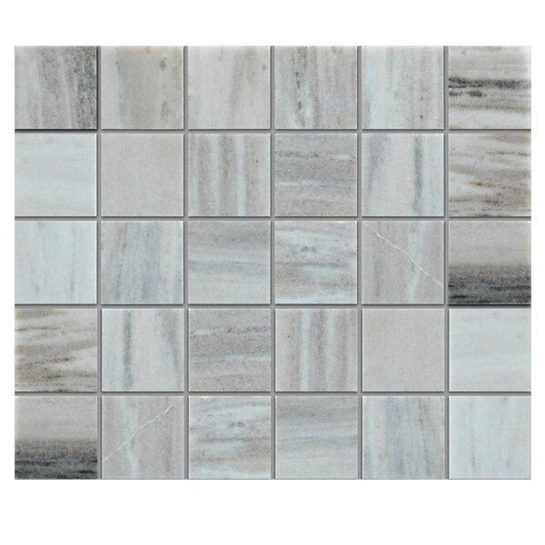 Polished 2 x 2 Natural Stone Mosaic Tile in Gray by QDI Surfaces