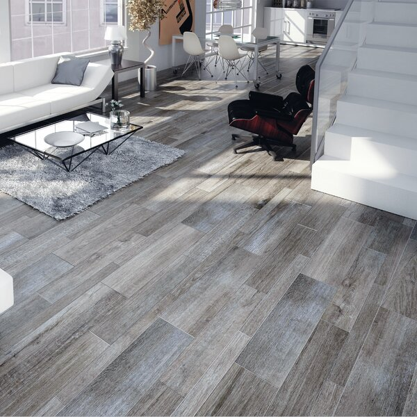 Savona 8 x 26 Porcelain Wood Tile in Gris by EliteTile