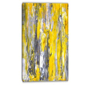 Abstract Pattern Abstract Painting Print on Wrapped Canvas by Design Art